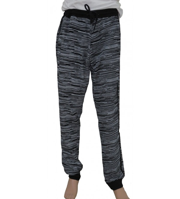 Mens Oversize Knit Printed Terry Joggers