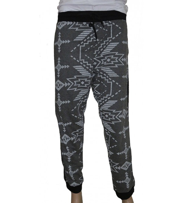 Mens Oversize Knit Printed Joggers