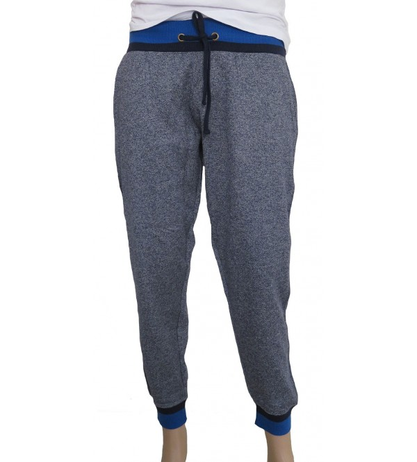Mens Knit Printed Terry Joggers