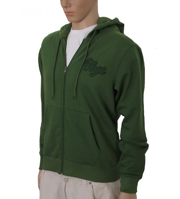 Mens Brushed Fleece Hooded Sweatshirt With Full Zipper