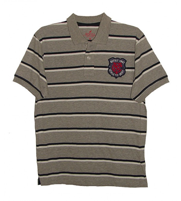 Mens Striped Polo