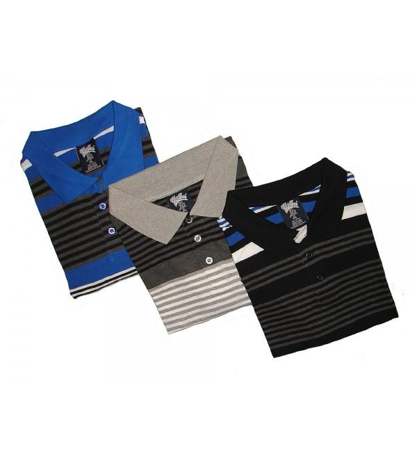 Mens Oversize Striped Polo