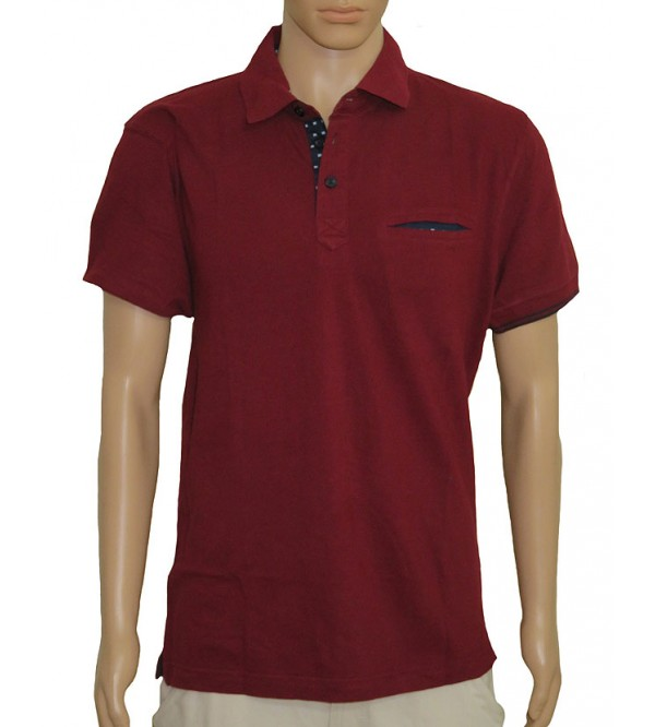 Mens Short Sleeve Fancy Polo