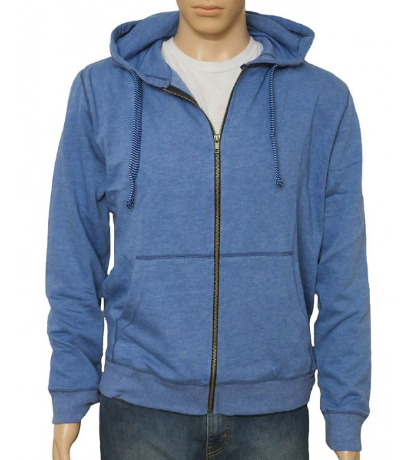 Mens French Terry Hooded Sweatshirt With Full Zipper
