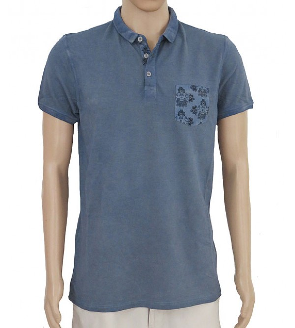 Mens Washed Polo