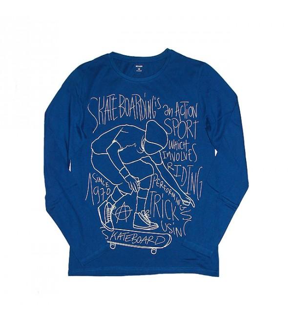 Mens Junior Long Sleeve Printed T Shirt