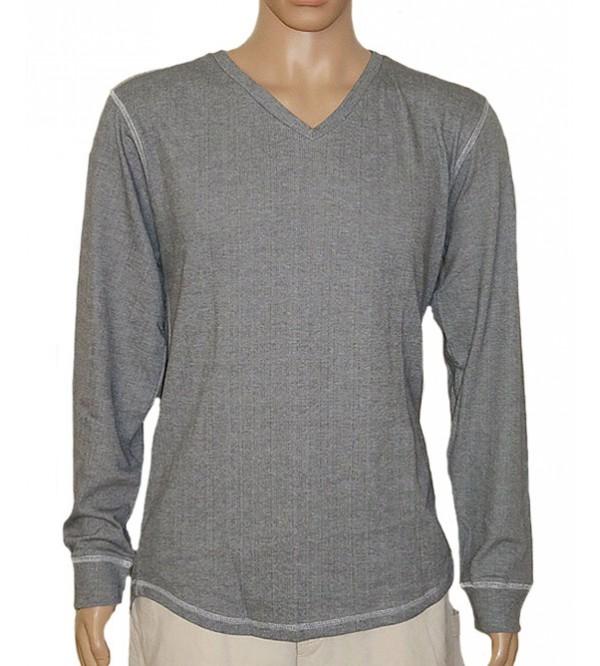 Mens V Neck Long Sleeve Winter T Shirts