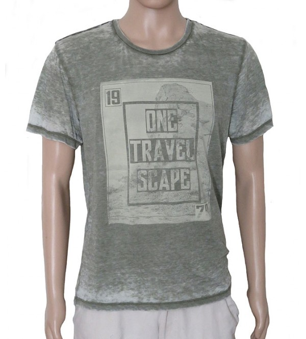 Mens Printed Burnout T Shirts