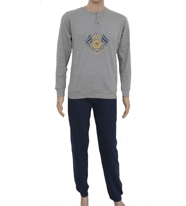 Mens Printed Interlock Pyjama Sets
