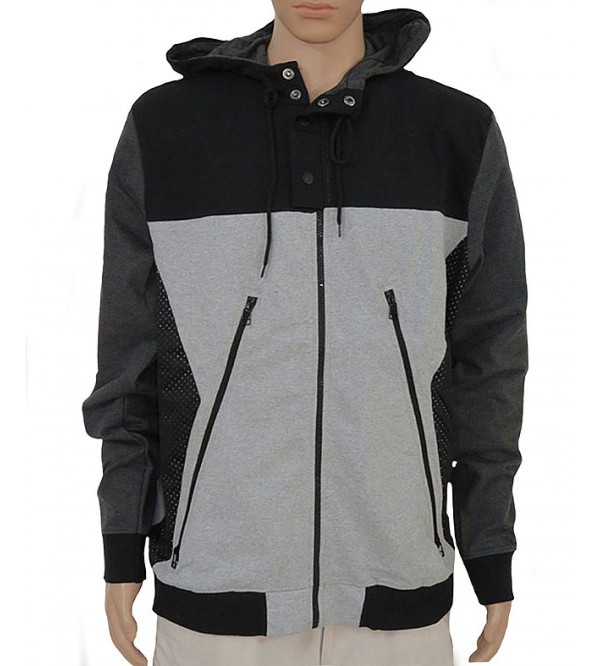 Mens Brushed Fleece Hooded Sweatshirt With Full zipper