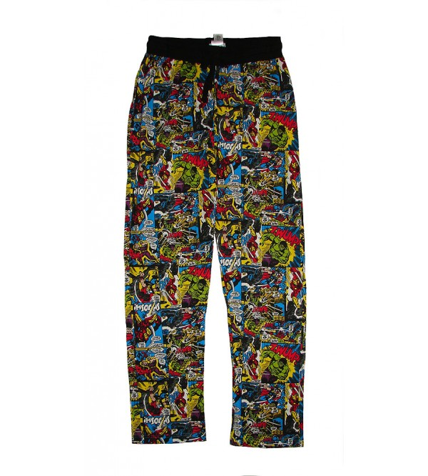 Marvel Characters Mens Printed Night Pants