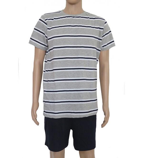 Mens Printed Shorty Pyjama Sets