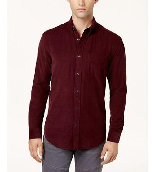 Mens Long Sleeve Corduroy Shirt