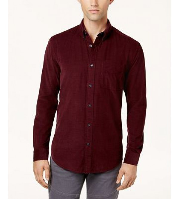 Mens Long Sleeve Corduroy Shirt