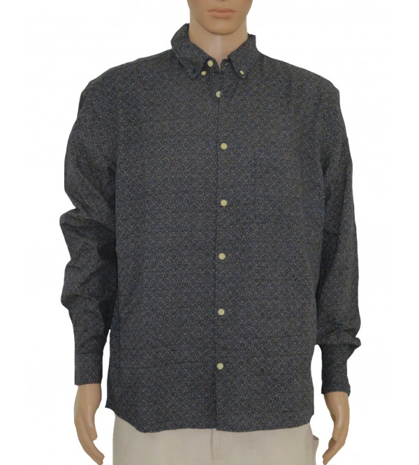 Mens Jacquard Woven Shirt