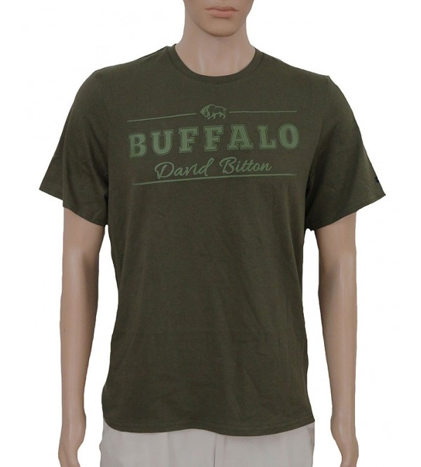 Buffalo Mens Short Sleeve  Printed T Shirt