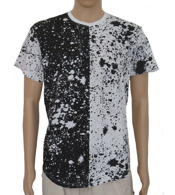 Mens Paint Splatter Print T Shirts