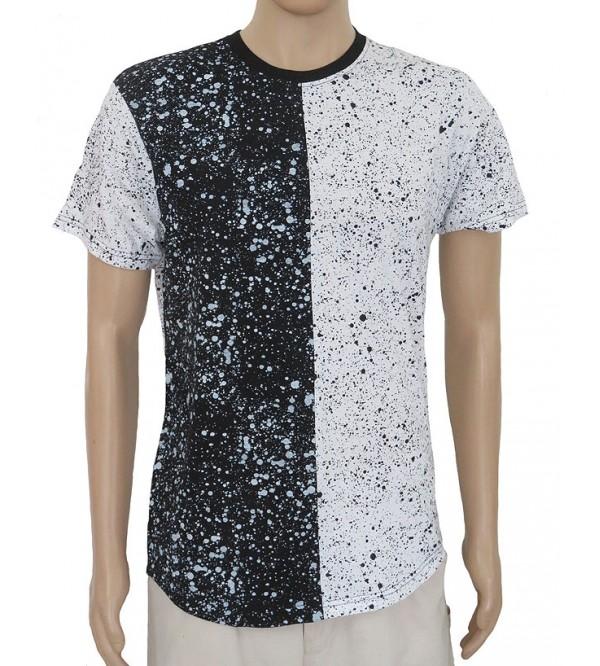 Mens Paint Splatter Print T Shirts