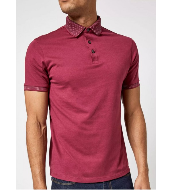 Burton Mens Jacquard Collar Polo Shirts