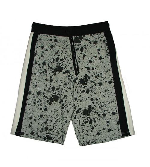 Mens Paint Splatter Printed Shorts