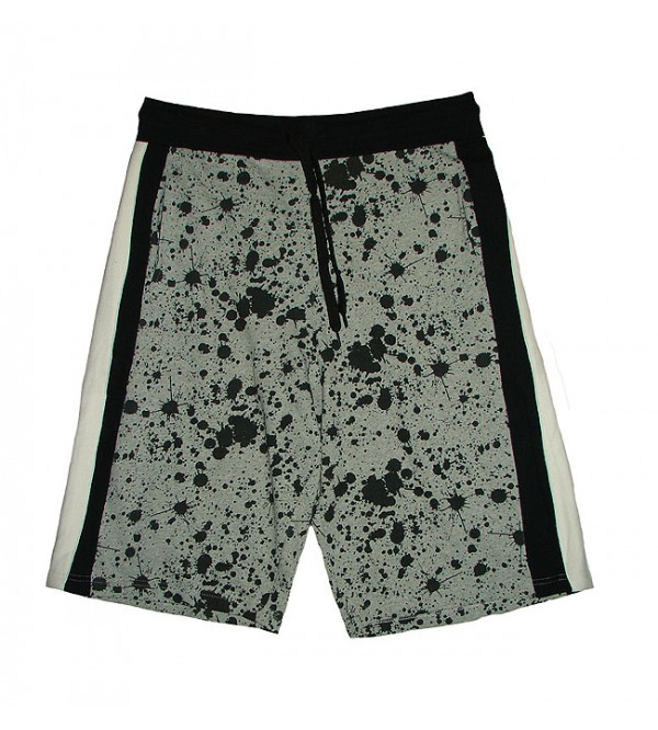 Mens Paint Splatter Printed Shorts
