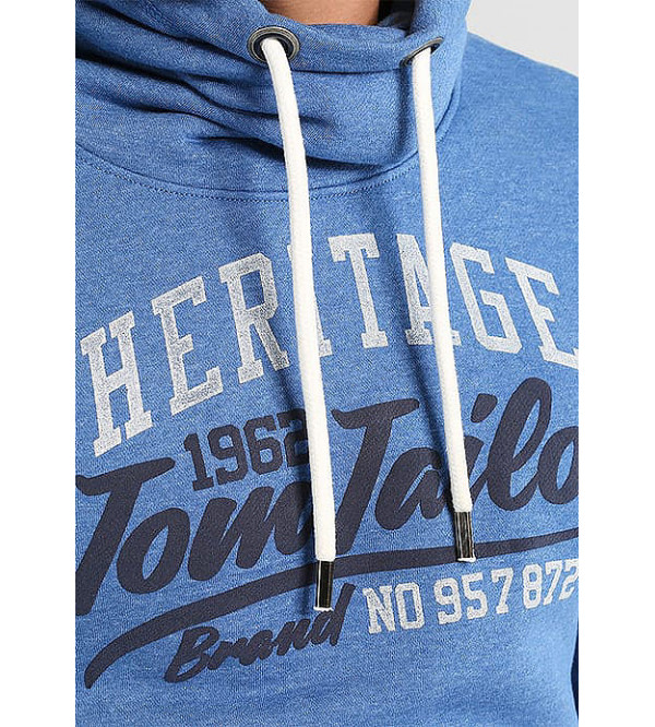 Tom Tailor Mens Pullover Sweatshirt With High Collar