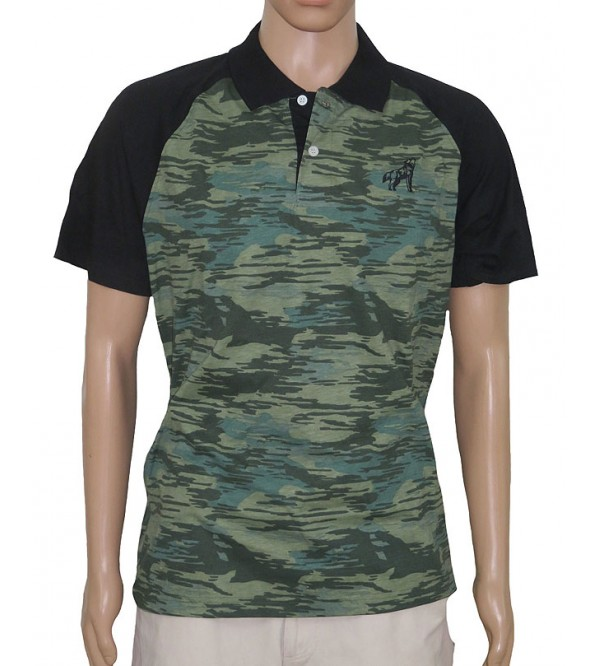 Mens Short Sleeve Printed Fancy Polo