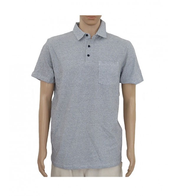 Mens Jacquard Fancy Polo