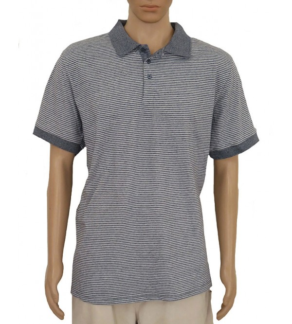Mens Short Sleeve Striped Polo