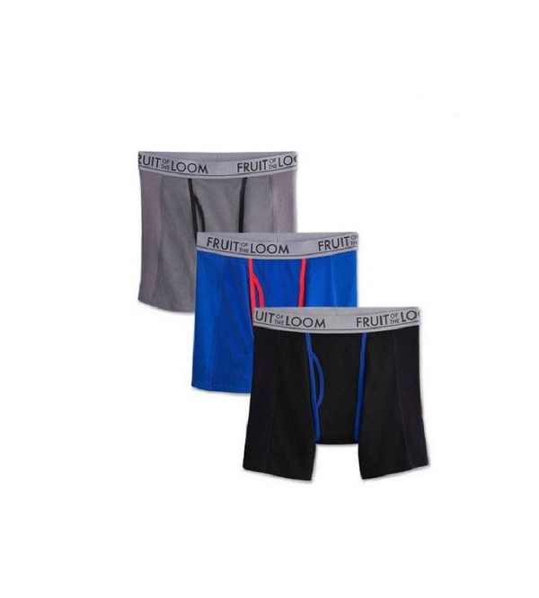 Mens Stretch Boxer Briefs 3 pcs Pack Long Leg