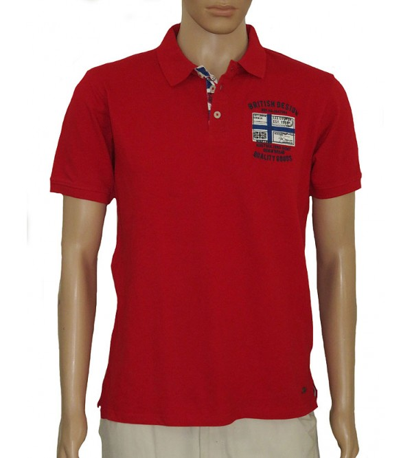 Lee Cooper Mens Applique Fancy Polos