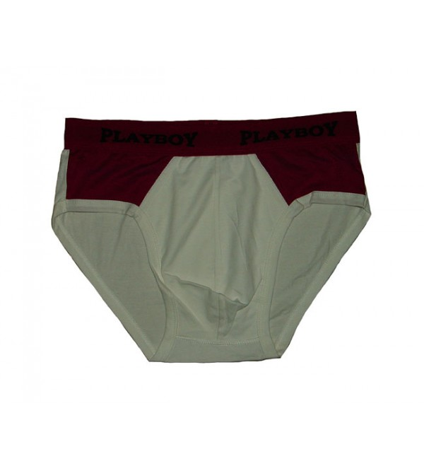 Mens Outer Elastic Knit Briefs