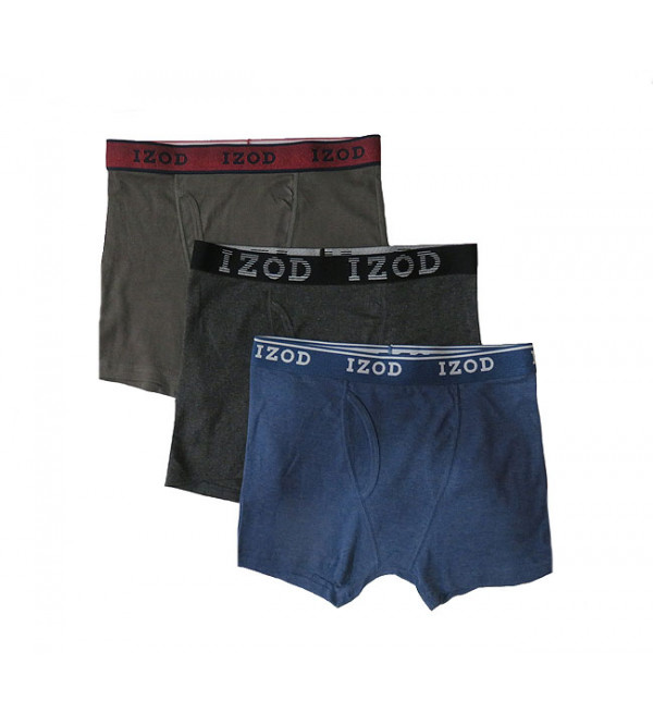 """ M "" Size IZOD Mens Boxers With Fly"