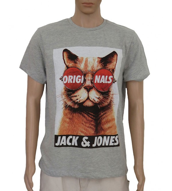 Jack n Jones Mens Short Sleeve  Printed T Shirt