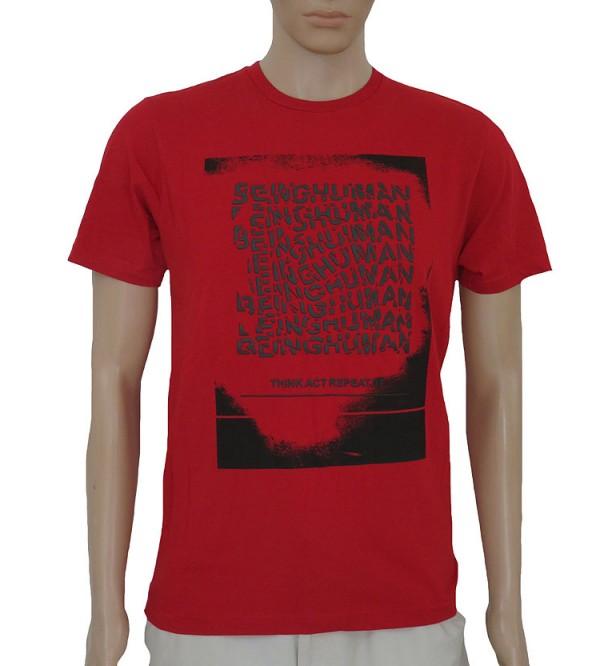 Being Human Mens Short Sleeve  Printed T Shirt