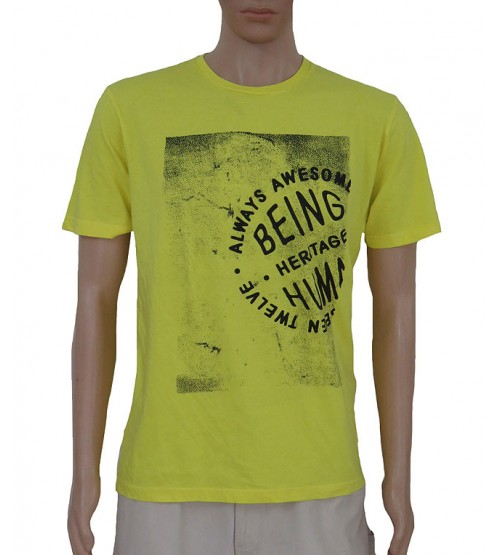 Being Human Mens Short Sleeve  Printed T Shirt