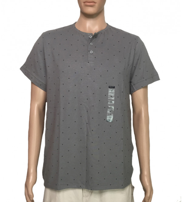 Mens Henley Neck T Shirt
