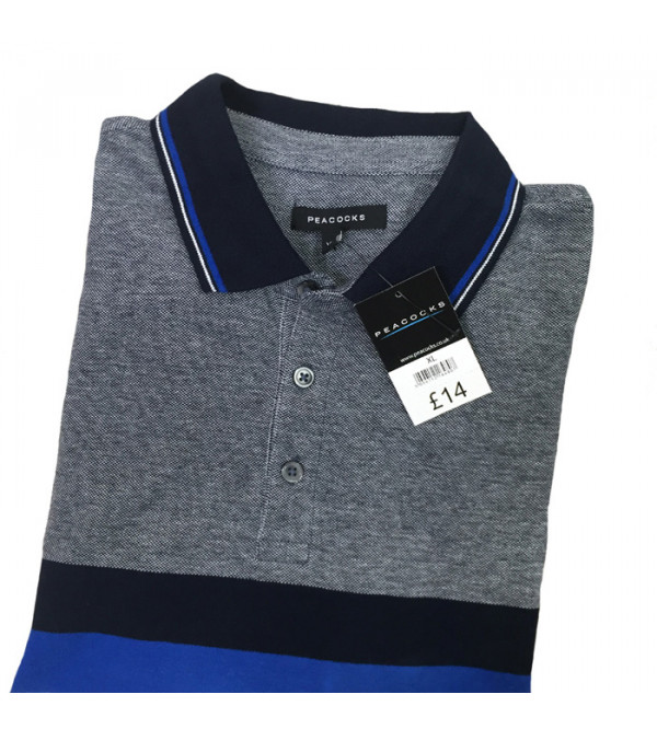 Mens Oversize Striped Polo