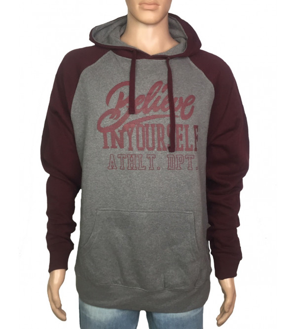 Mens Pullover Sweatshirt With Hoodie
