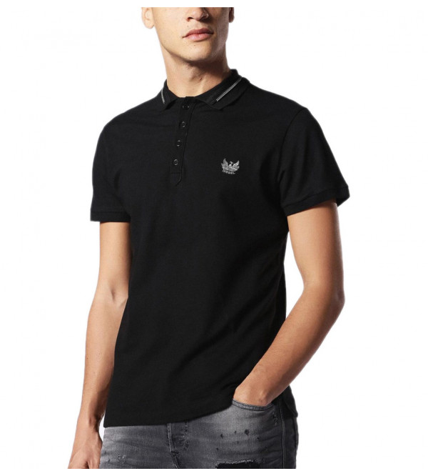 DIESEL Mens Stretch Polo Shirts With Embroidery