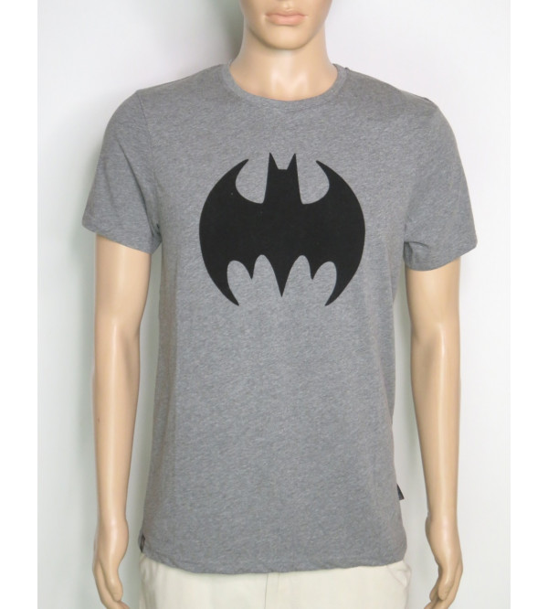 Batman Mens T Shirt Flock Printed