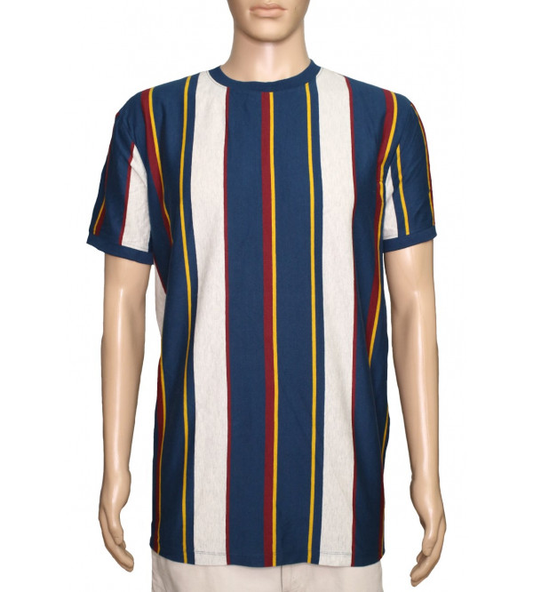 Mens Vertical Striped T Shirts