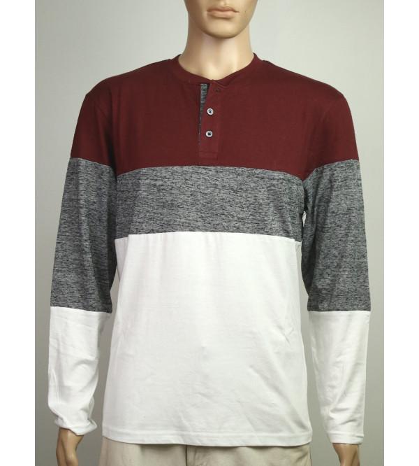 Mens Cut n Sew Henley T Shirts