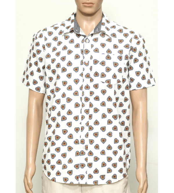 Mens Printed Woven Cotton Shirt