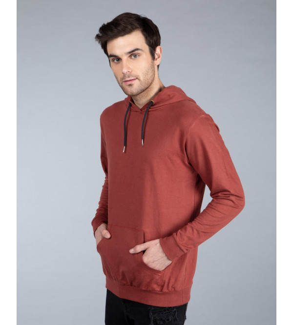 Men's French Terry Pullover Sweatshirt With Hoodie