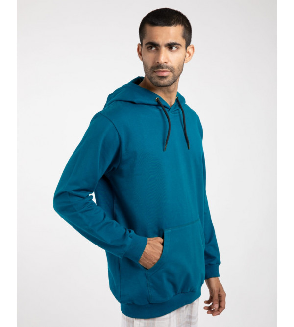 Men's French Terry Pullover Sweatshirts With Hoodie