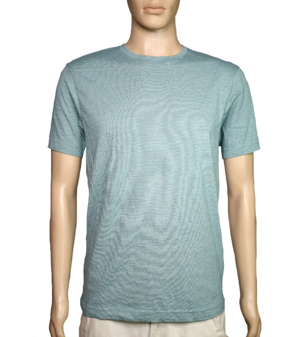 Mens Grindled Yarn Striped T Shirts