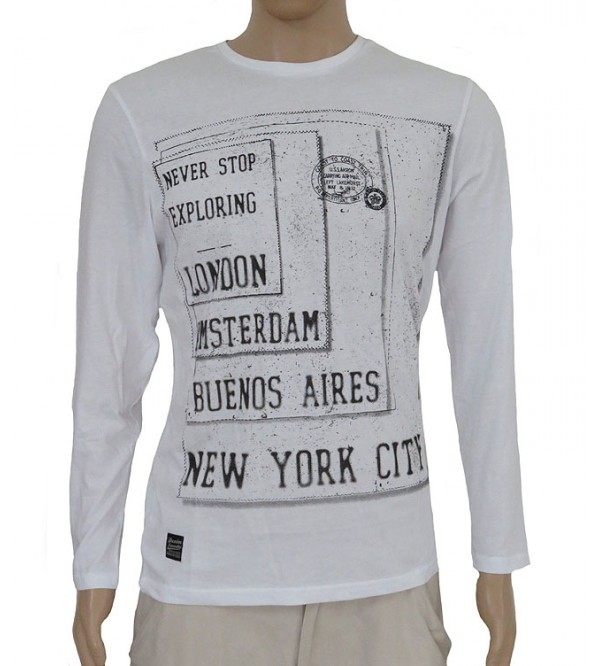 Mens Long Sleeve Printed T Shirt