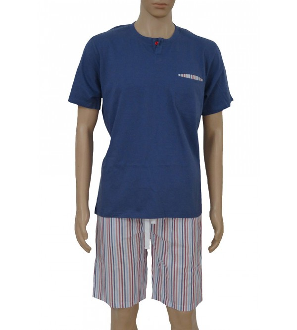 Mens Printed Shorty Pyjama Set