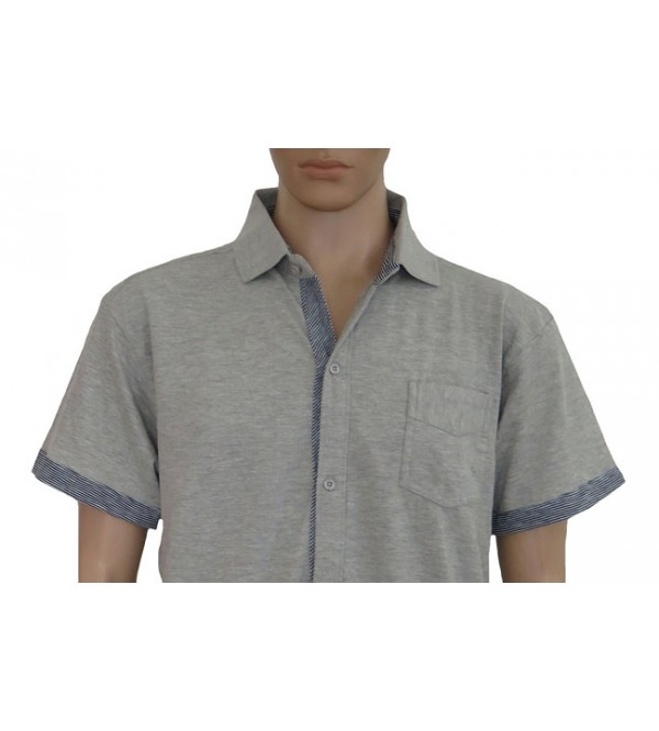 Mens Knit Full Button Shirts